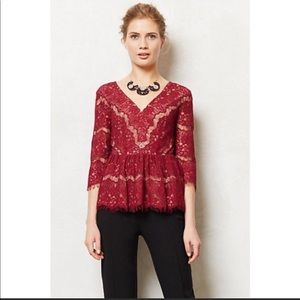 Anthropologie Maeve lace top size small
